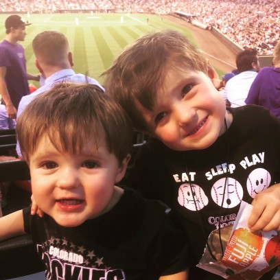 Boys at ROckies Game
